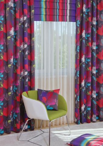 double lakástextil és függöny kompozíció